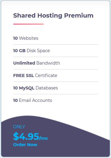 Shared WebHosting Premium
