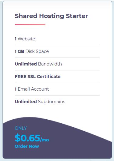 Shared WebHosting Starter